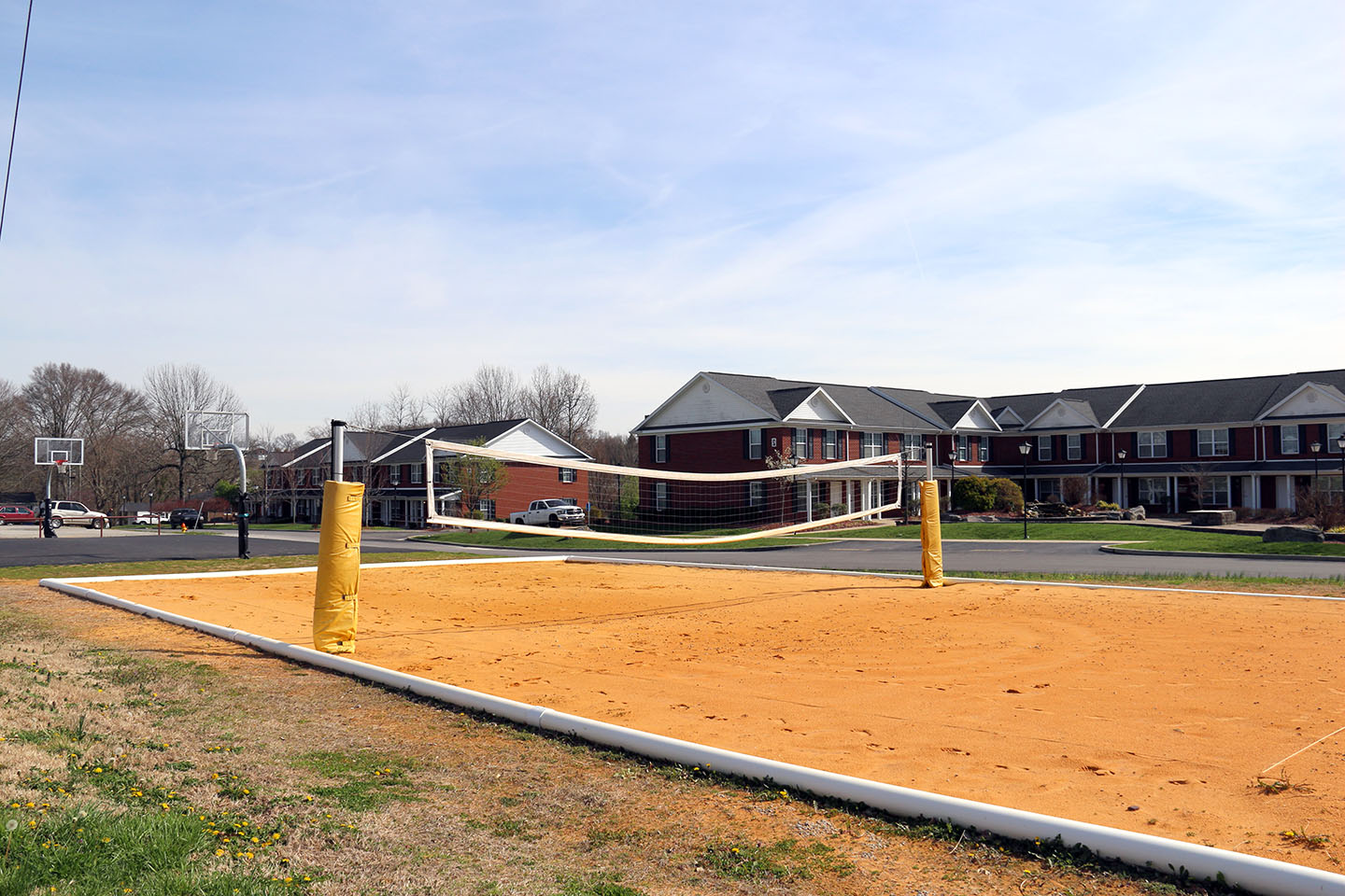 Sand Volleyball and Basketball Court