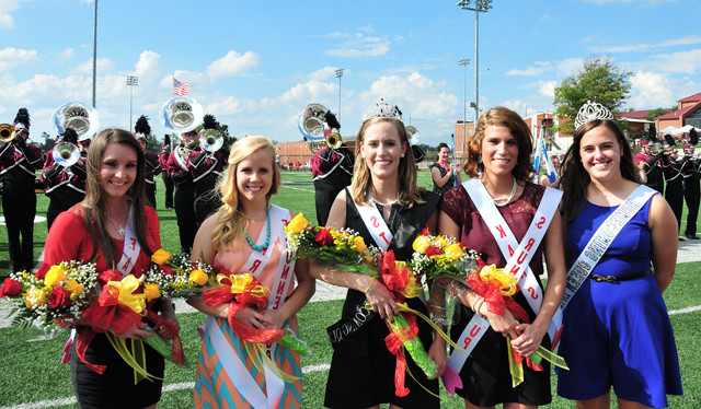 Mary Kate Rogers poses as queen with the other candidates